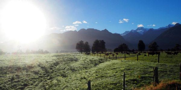 Sonne Mount Cook Schnee Neuseeland