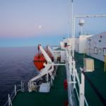 Mond und Sonnenuntergang Fjorde