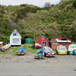 Strand und Boote in Chiloé
